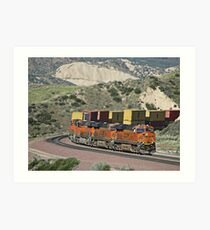 BNSF # 7818 at Cajon Pass Art Print