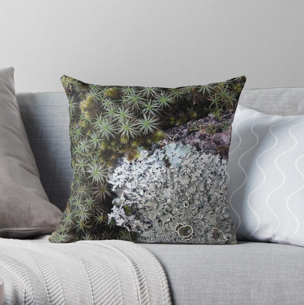Lichen & Moss Throw Pillow