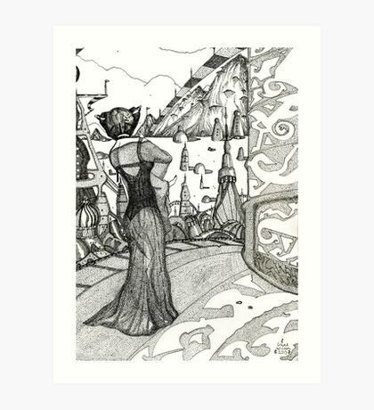 Planet XYZ  [Pen Drawn Fantasy Figure Illustration] Art Print