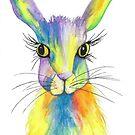 Rainbow Hare by carla-marie