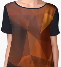 Abstract print geometrical pattern of triangles polygon. Fabric design in bright colors Chiffon Top