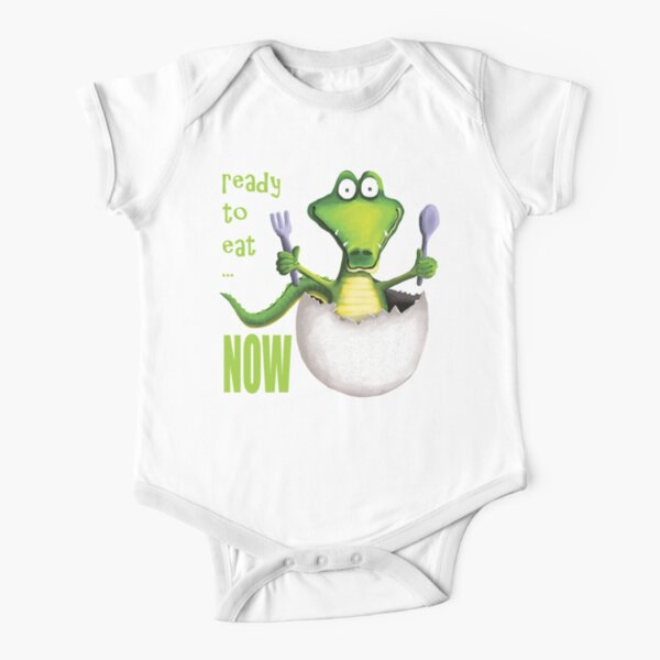 Ready To Eat NOW Short Sleeve Baby One-Piece