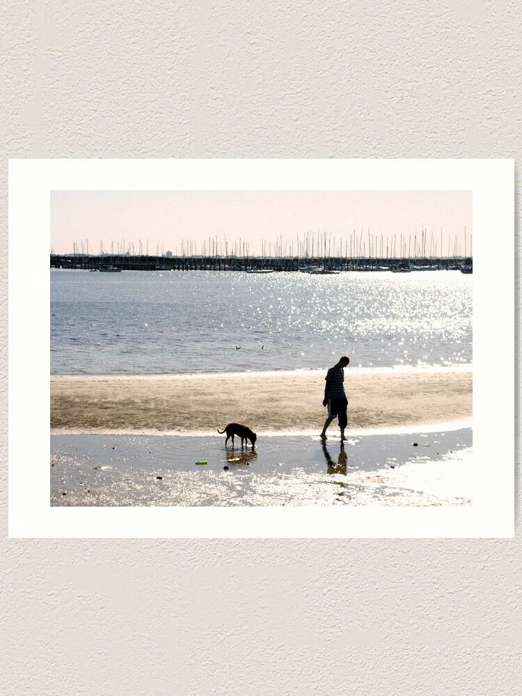 Alternate view of A Man and his Dog Art Print