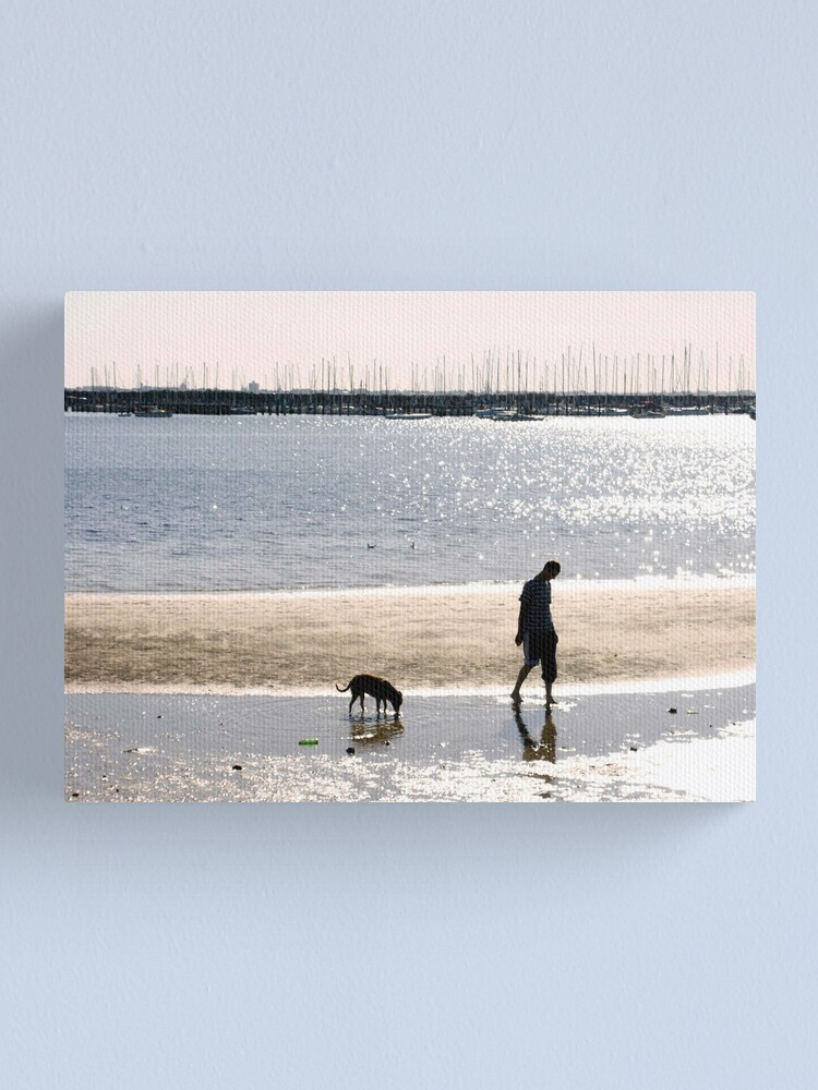 Alternate view of A Man and his Dog Canvas Print