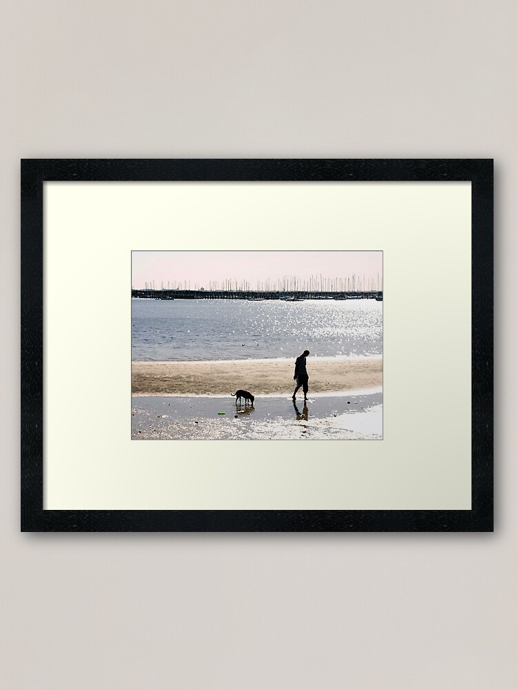 Alternate view of A Man and his Dog Framed Art Print