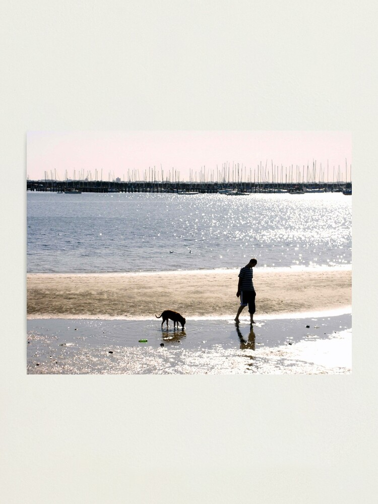 Alternate view of A Man and his Dog Photographic Print