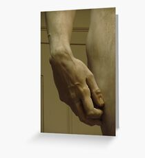 Michelangelo Study; The Hand Of David Greeting Card