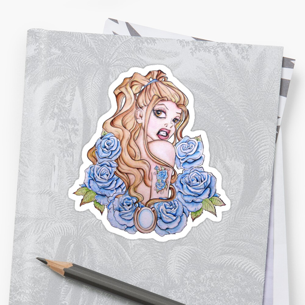 A Rose by Any Other Name - Fantasy Pinup Tattoo Art by Concetta Kilmer
