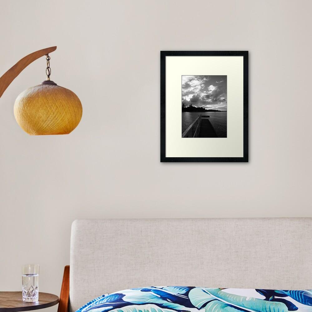 Sorrento Sunset Framed Art Print