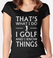C'est ce que je fais du golf et je connais les choses T-shirt échancré