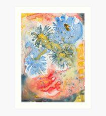 Yupo Flowers Art Print
