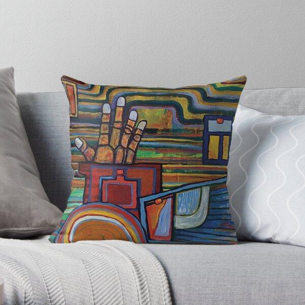Orange Hand Throw Pillow