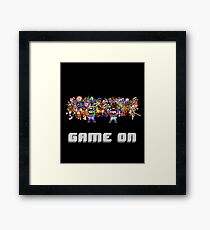 Game On! Video Game Crowd with Mario and Luigi Framed Print