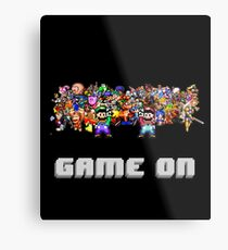 Game On! Video Game Crowd with Mario and Luigi Metal Print