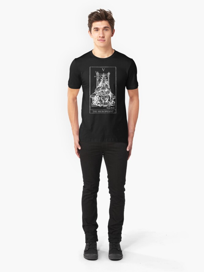 Alternate view of The Hierophant Tarot V Slim Fit T-Shirt