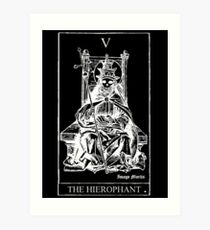 The Hierophant Tarot V Art Print