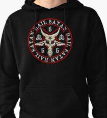 Hail Satan Baphomet in Occult Inverted Pentagram Pullover Hoodie