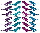 Colorful Dinosaur Pattern  by CarolM