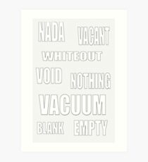 4-EMPTY - pillow collection! Art Print