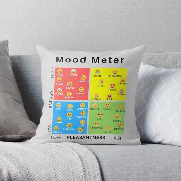 Emoticon Mood Meter Throw Pillow