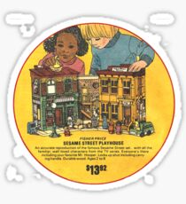 Fisher Price Sesame Street Playhouse Ad Sticker