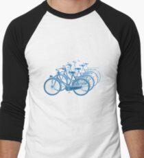 Blue motion bike a white background Men's Baseball ¾ T-Shirt