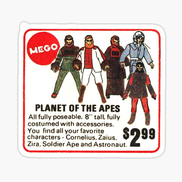 Mego Planet of the Apes Action Figures Sticker