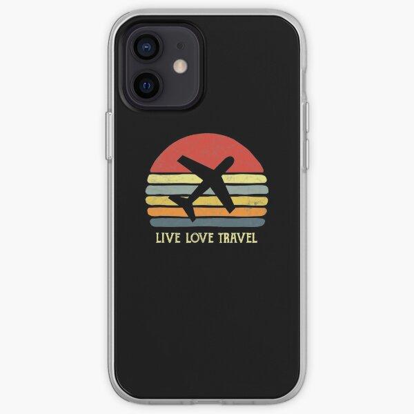 Vintage Travel World Traveler Themed Gift Love Traveling  iPhone Soft Case