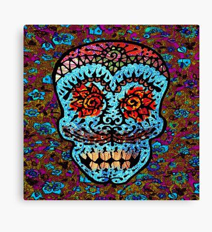 'Sweet Sugar Skull #3' Canvas Print