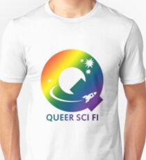 Queer Sci Fi Logo - Bellamy Mix Gradient Edition Unisex T-Shirt