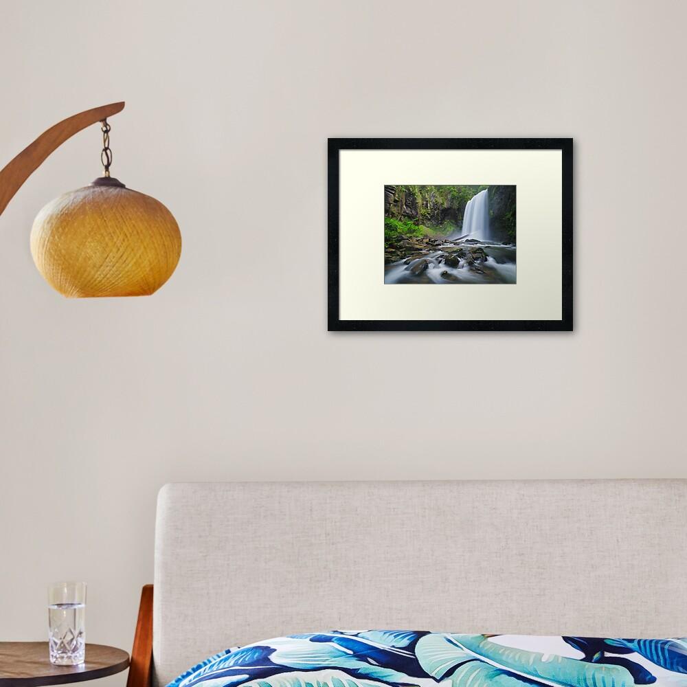 Hopetoun Falls, Otways, Great Ocean Road, Victoria, Australia Framed Art Print