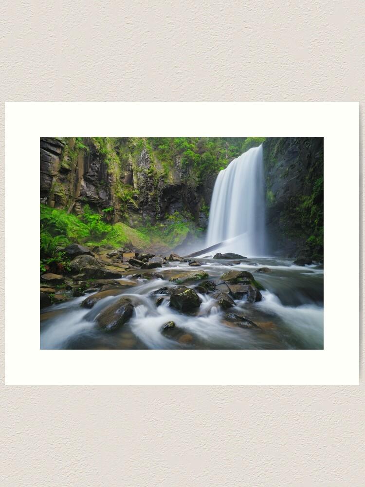 Alternate view of Hopetoun Falls, Otways, Great Ocean Road, Victoria, Australia Art Print
