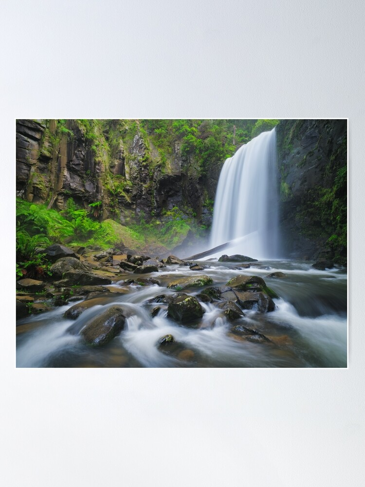 Alternate view of Hopetoun Falls, Otways, Great Ocean Road, Victoria, Australia Poster