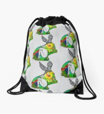 Rabbit's Hive Drawstring Bag