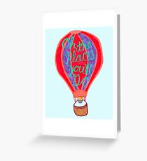 """Oh, the Places you'll Go!"" – Balloon, Hand Lettering, Dr. Seuss Greeting Card"