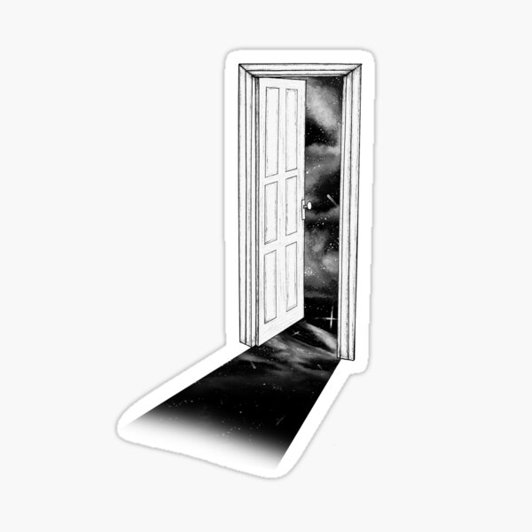 The Doorway to the Universe  Sticker