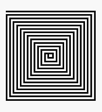Black and White Square Spiral Photographic Print