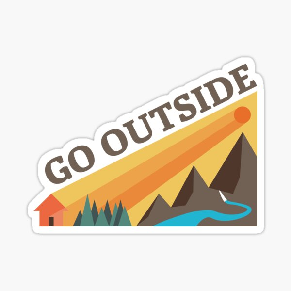 Go Outside! Sticker