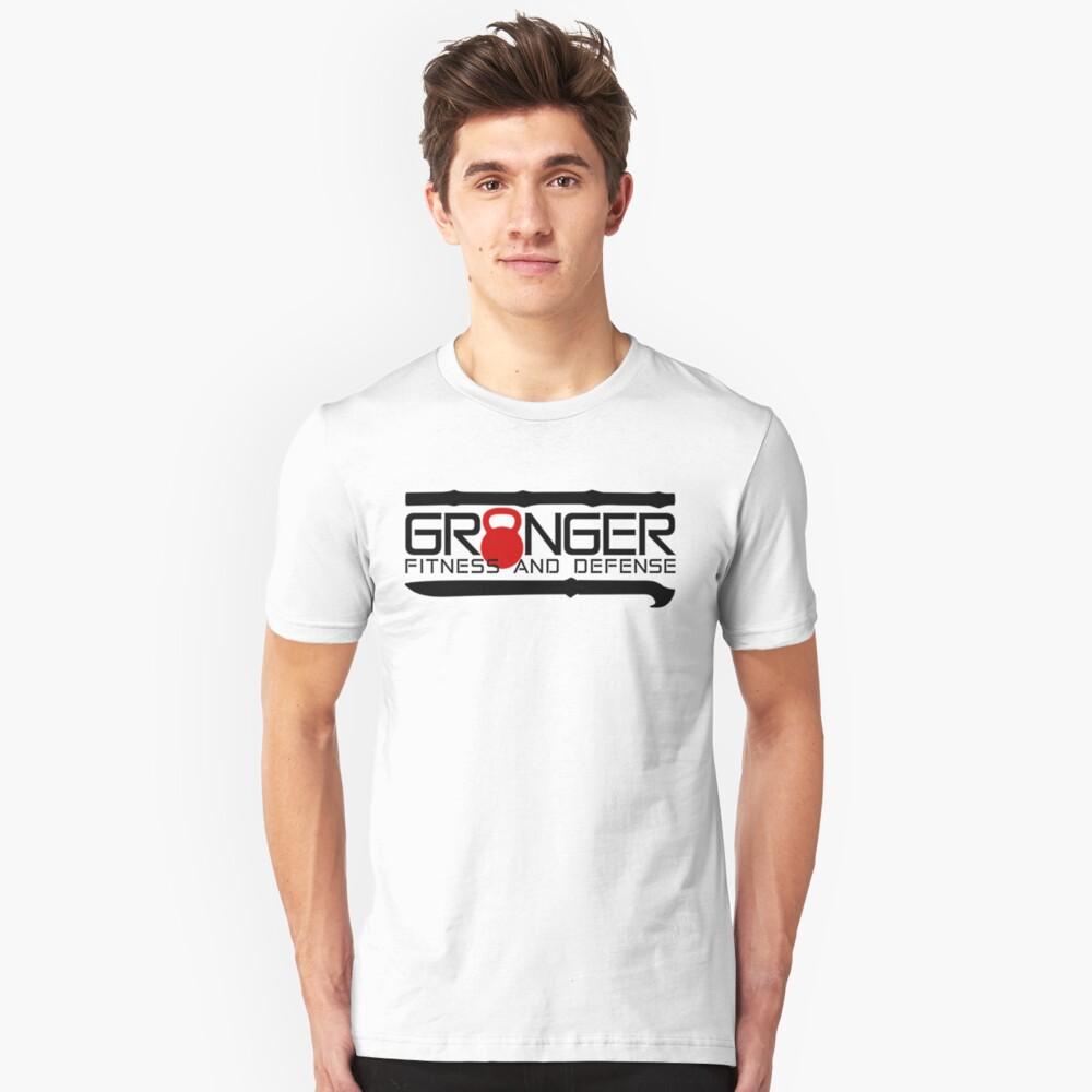 Red Full Logo for Granger Fitness and Defense  Slim Fit T-Shirt