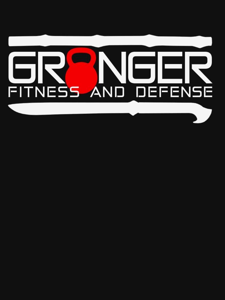 Granger Fitness and Defense Red And White Full logo by johngranger