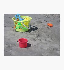 Beach Toys Photographic Print