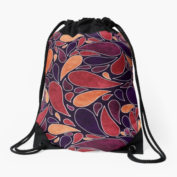 Indian summer pattern Drawstring Bag