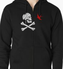 The Flag of Captain Jack Sparrow Zipped Hoodie