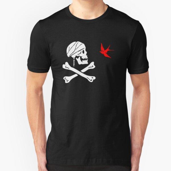 The Flag of Captain Jack Sparrow Slim Fit T-Shirt