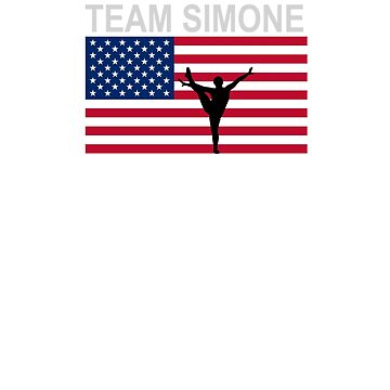 Team Simone - Gymnast t-shirt by boscotjones