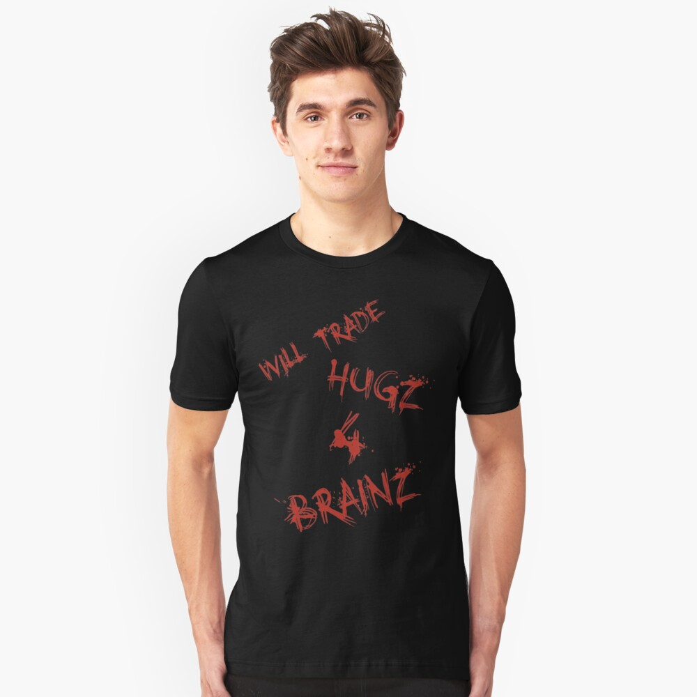 Hugs For Brains Unisex T-Shirt Front