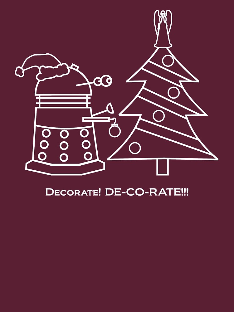 A Very Dalek Christmas - Dark | Unisex T-Shirt