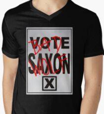 Bad Saxon Poster Men's V-Neck T-Shirt