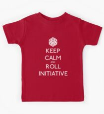 Keep Calm and Roll Initiative Kids Tee