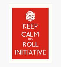 Keep Calm and Roll Initiative Art Print